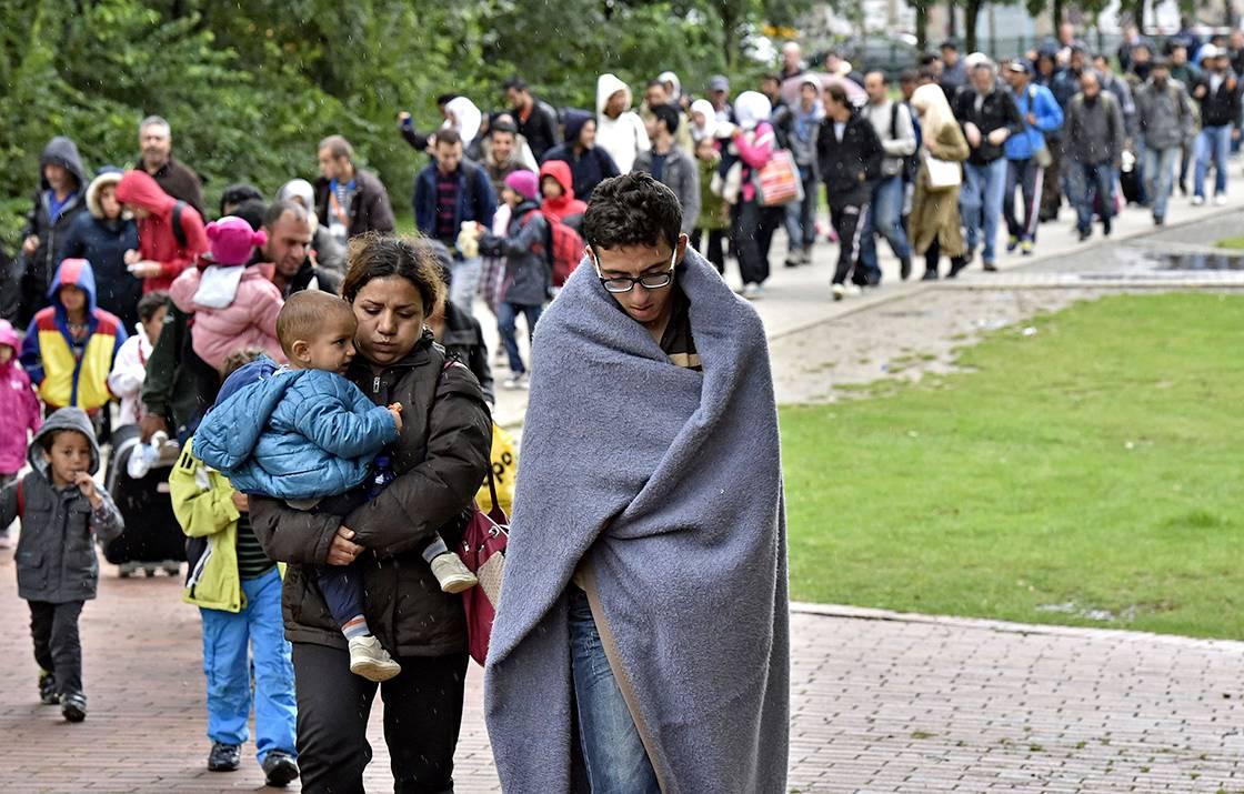 Pakolaisia syyskuussa 2015 Dortmundissa.