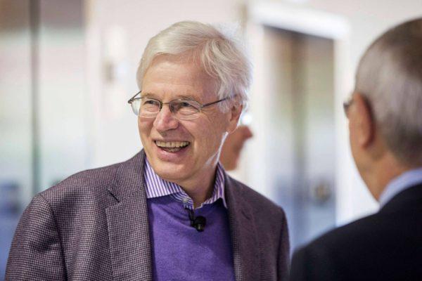 Nobelin palkinnon saanut Bengt Holmström MIT:n kampuksella Cambridgessa Yhdysvalloissa 10. lokakuuta 2016