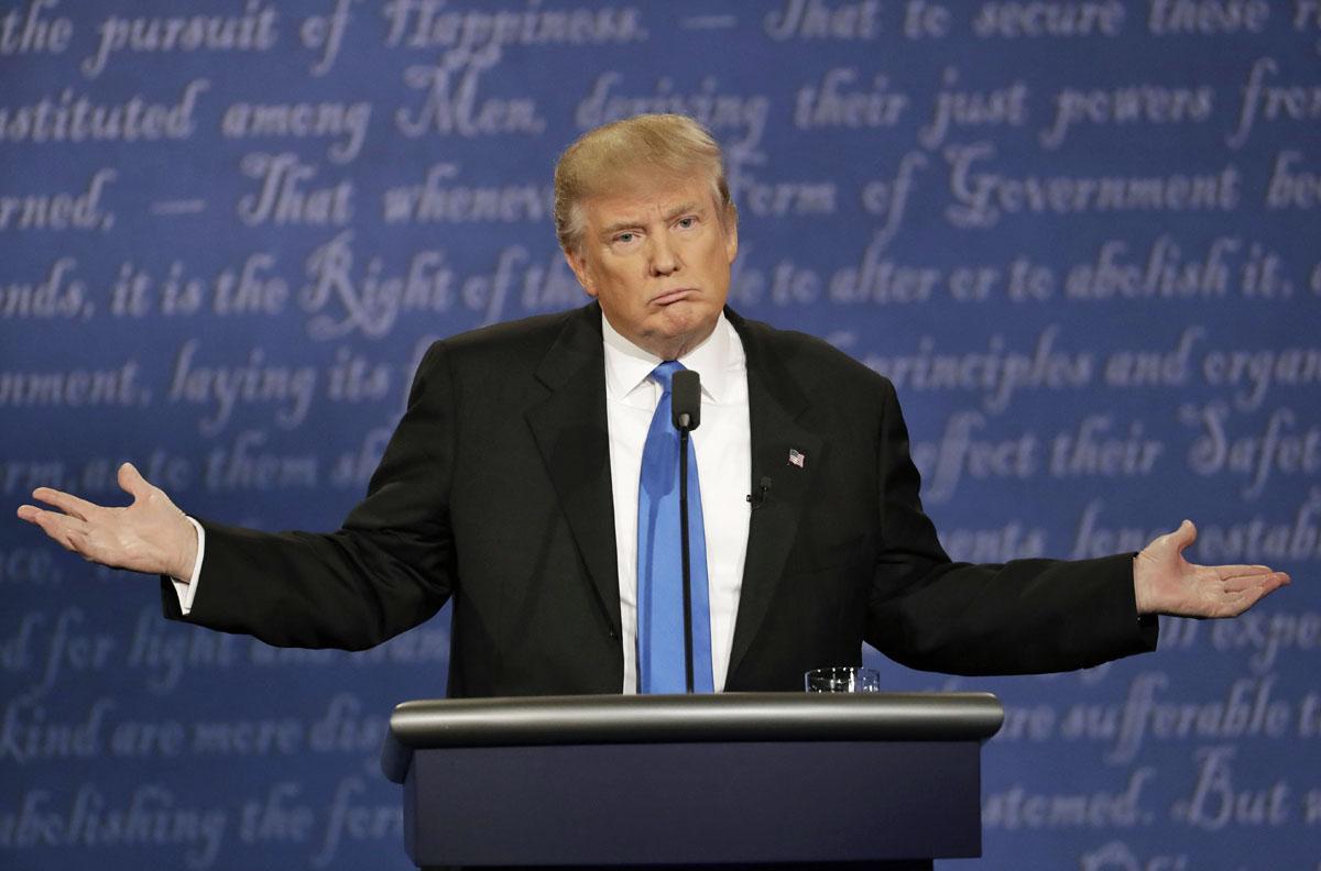 Donald Trump vaaliväittelyssä