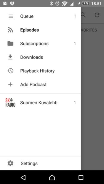 Podcastin Android-ohjeet