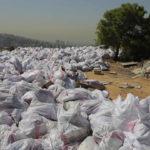 Jätesäkkejä Bsalimin kaupungin lähellä Libanonissa 3. lokakuuta 2016.
