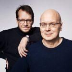 Teppo Sillantaus (vas.) ja Lauri Malkavaara ovat työskennelleet Helsingin Sanomissa yhdessä 1990-luvun alusta lähtien.