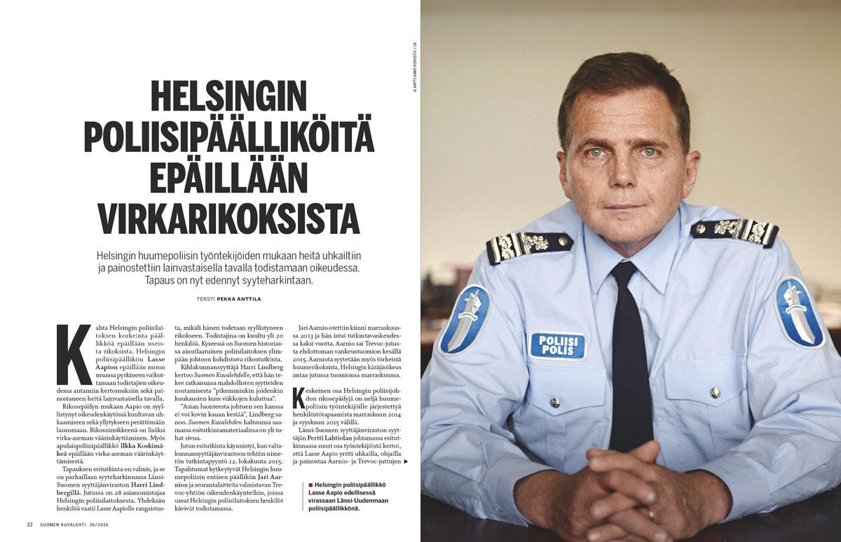 Suomen Kuvalehden aukeama numerosta 36/2016.