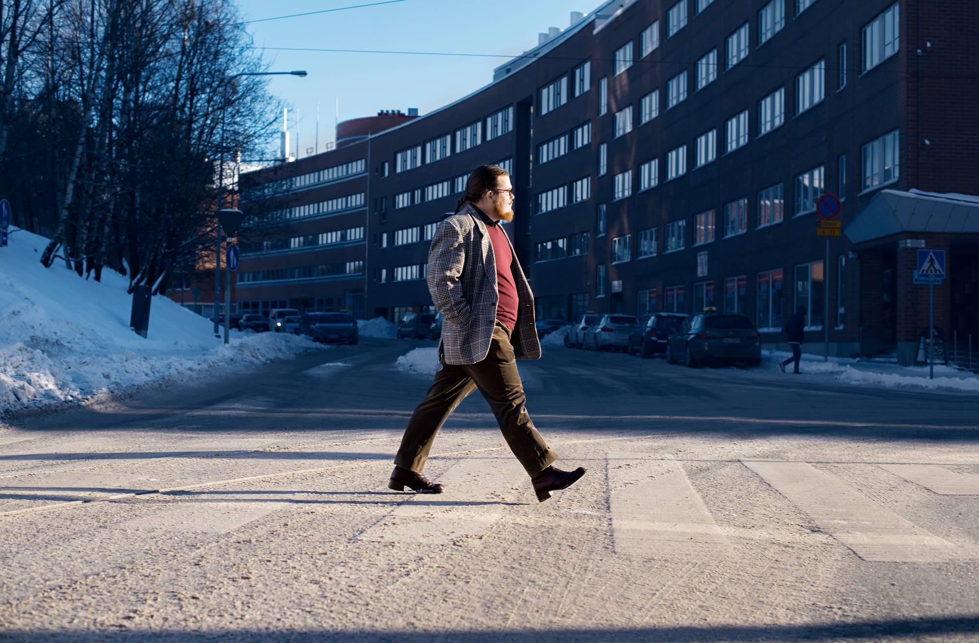 Orjo Pättiniemen työpaikka on Autismisäätiöllä Helsingin Vallilassa.