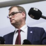 Pääministeri Juha Sipilä (kesk) piti tiedotustilaisuuden eduskunnassa 30. marraskuuta 2016.