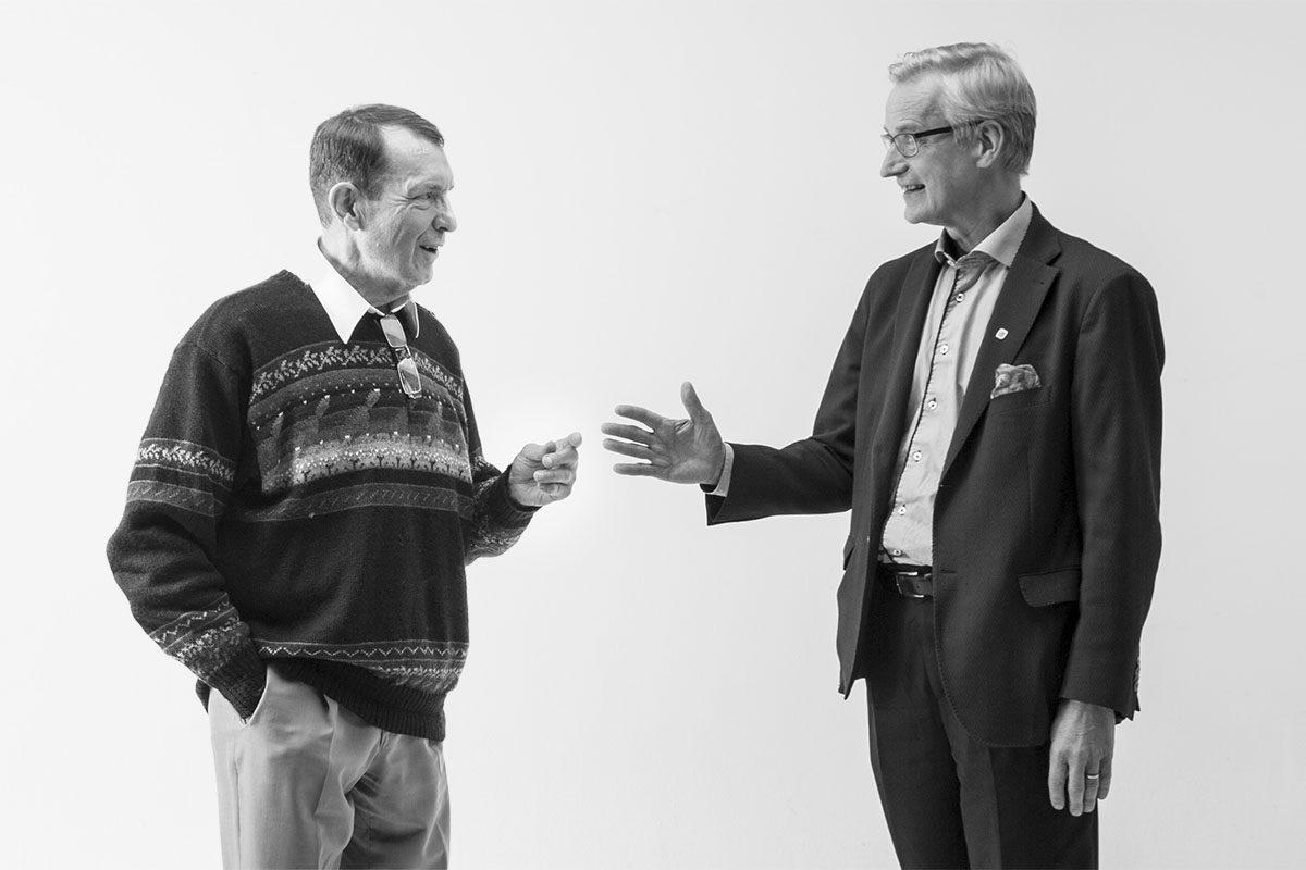 Esko Seppänen ja Heikki Pälve ovat eri mieltä eutanasiasta.