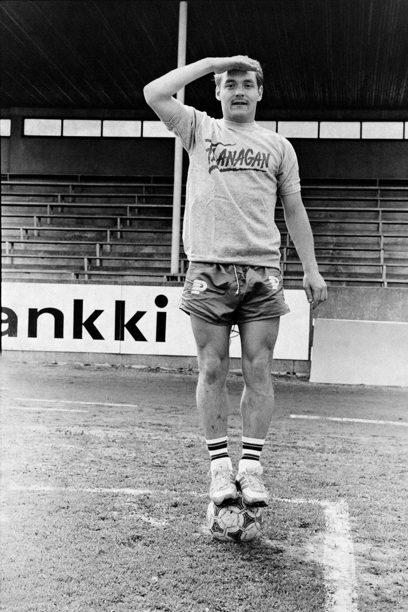 Atik Ismail kentällä vuonna 1981.