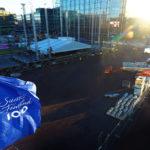 Uudenvuoden Suomi 100  -juhlan lavaa rakennettiin Kansalaistorilla Helsingissä 28. joulukuuta.