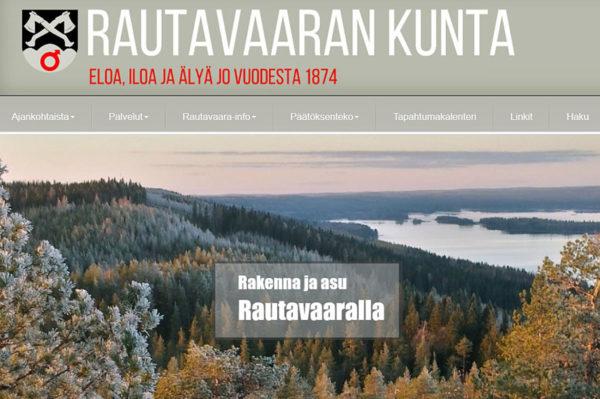 Kuvakaappaus Rautavaaran kunnan verkkosivuilta.