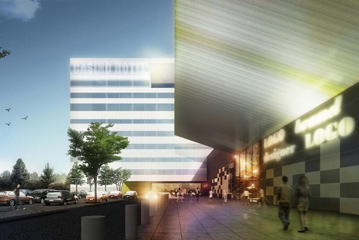 Virolahden Vaalimaalle suunnitellun kauppakeskuksen havainnekuva julkistettiin toukokuussa 2013.