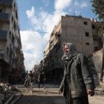 Kapinallisten hallitsema Douman kaupunki Damaskoksen itäpuolella 30. joulukuuta 2016.