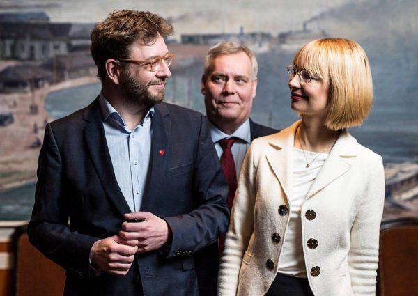 Timo Harakan, Antti Rinteen ja Tytti Tuppuraisen puheenjohtajakiertue käynnistyi Kuopiossa 7. tammikuuta.