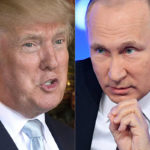 """""""Olen aina tiennyt, että hän on hyvin älykäs"""", kehui Donald Trump (vas.) Venäjän presidentti Vladimir Putinia Twitterissä 30. joulukuuta 2016."""