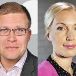 Jussi Eronen ja Salla Vuorikoski.
