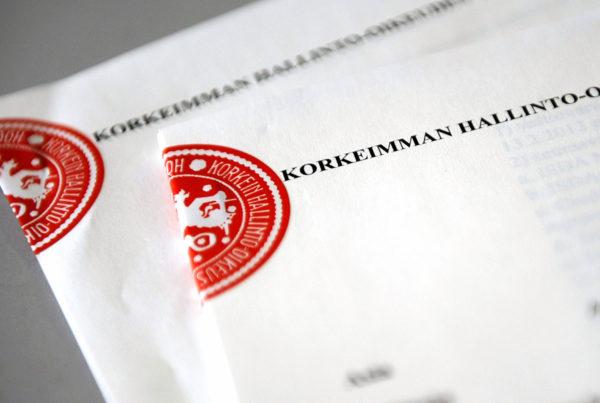 Korkeimman hallinto-oikeuden ratkaisu. Arkistokuva.