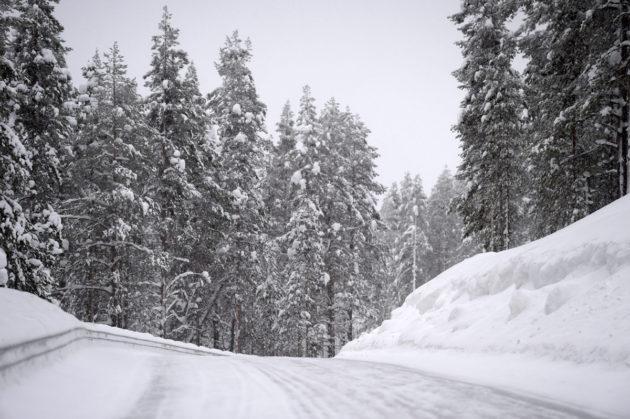 Tie Levitunturin huipulle Levillä Kittilässä 5. maaliskuuta 2016.