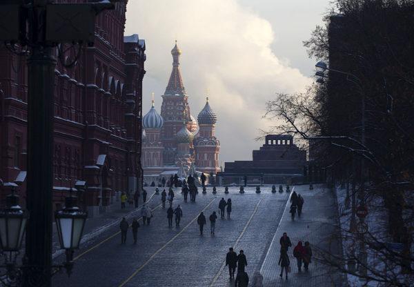 Ihmisiä Moskovassa 9. tammikuuta 2017.