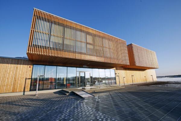 Fennovoiman uusi koulutuskeskus Hanhikivenniemellä Pyhäjoella 7. marraskuuta 2016.