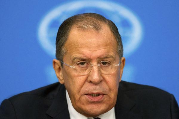 Venäjän ulkoministeri Sergei Lavrov tiedotustilaisuudessa Moskovassa 17. tammikuuta 2017.