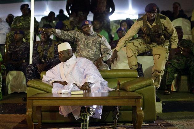 Presidentti Yahya Jammeh 29. marraskuuta 2016 viimeisessä vaalitilaisuudessaan juuri ennen joulukuun presidentinvaaleja.