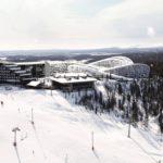 Koutalaki Ski Village -ehdotuksen havainnekuva.