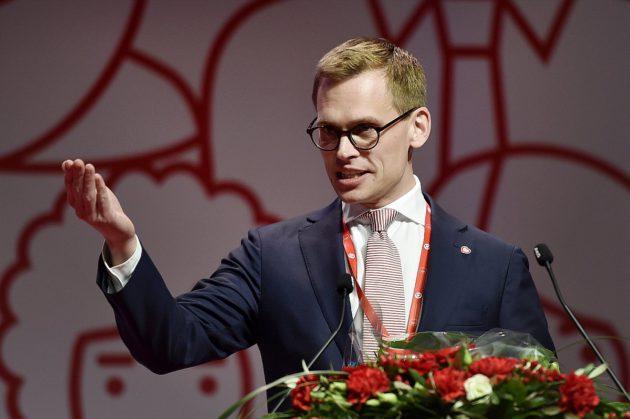 Sdp:n uusi puoluesihteeri Antton Rönnholm Sdp:n puoluekokouksessa Lahdessa 4. helmikuuta 2017.