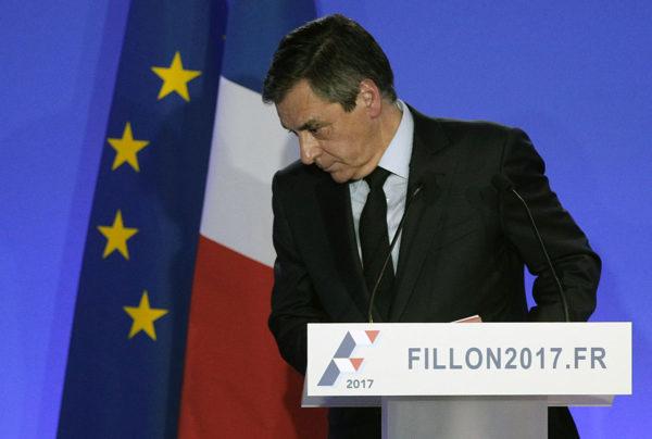 Presidenttiehdokas François Fillon tiedotustilaisuudessa Pariisissa Ranskassa 6. helmikuuta 2017.