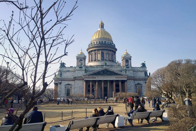 Iisakinkirkko Pietarissa Venäjällä toukokuussa 2016.