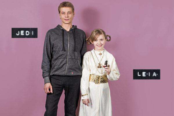 Jedi Ellonen ja Leia Lommi.