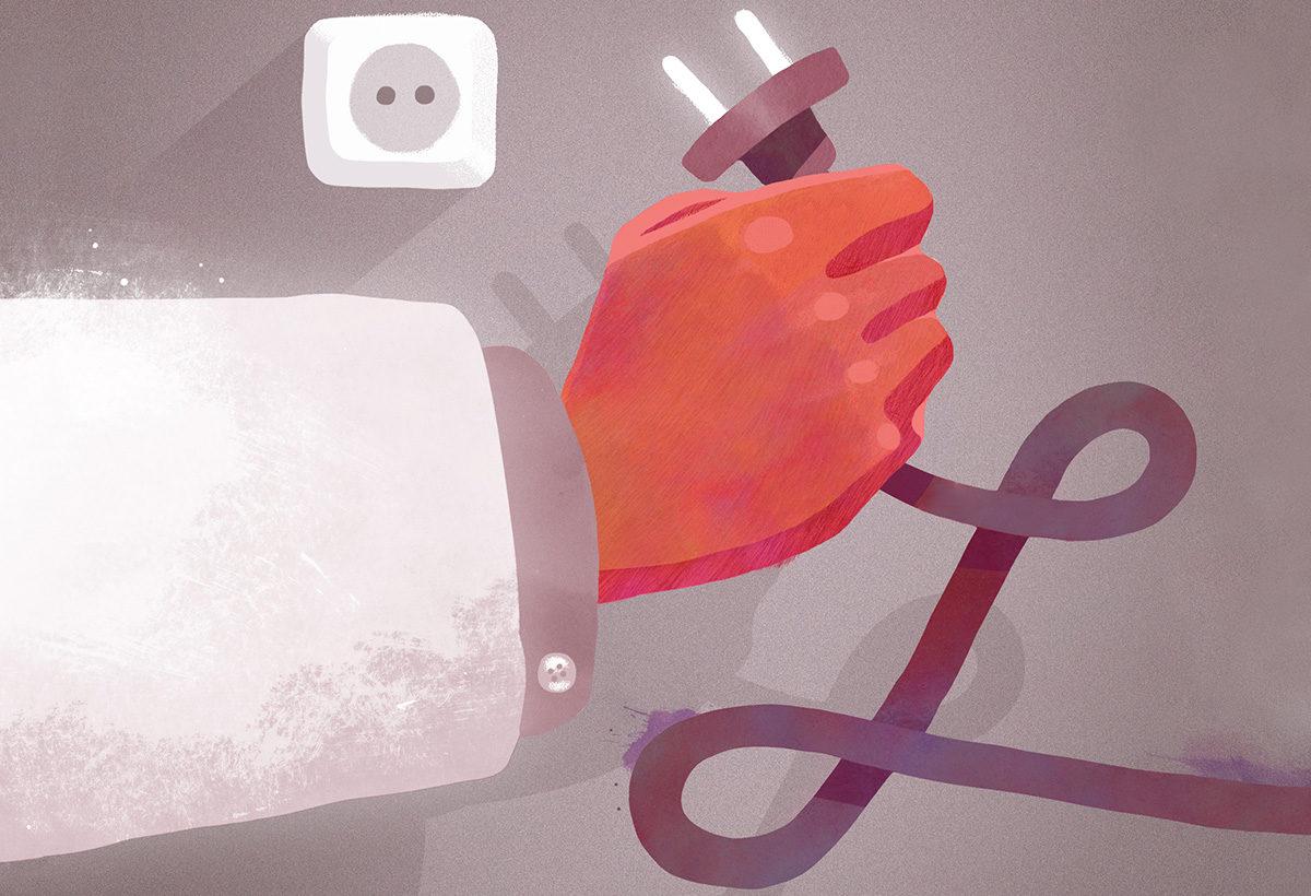Kanava-lehden kansikuvan on tehnyt kuvittaja Esa-Pekka Niemi. Lääkärillä on ihmisen kohtalo käsissään: tulisiko kuolevan elämää varjella vai voiko sietämättömän kärsimyksen lopettaa?