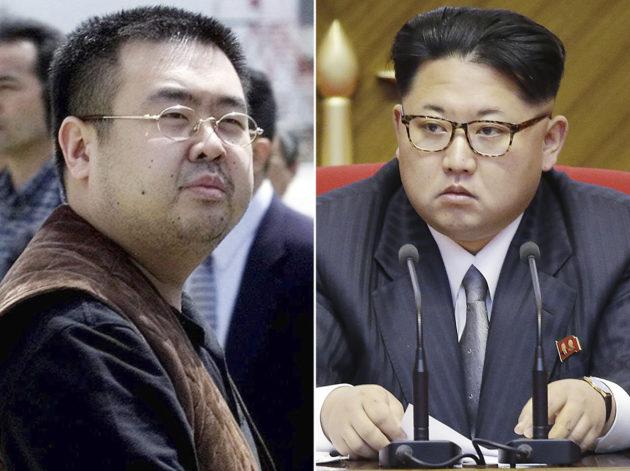 Edesmennyt Kim Jong-nam ja hänen velipuolensa, Pohjois-Korean diktaattori Kim Jong-un.
