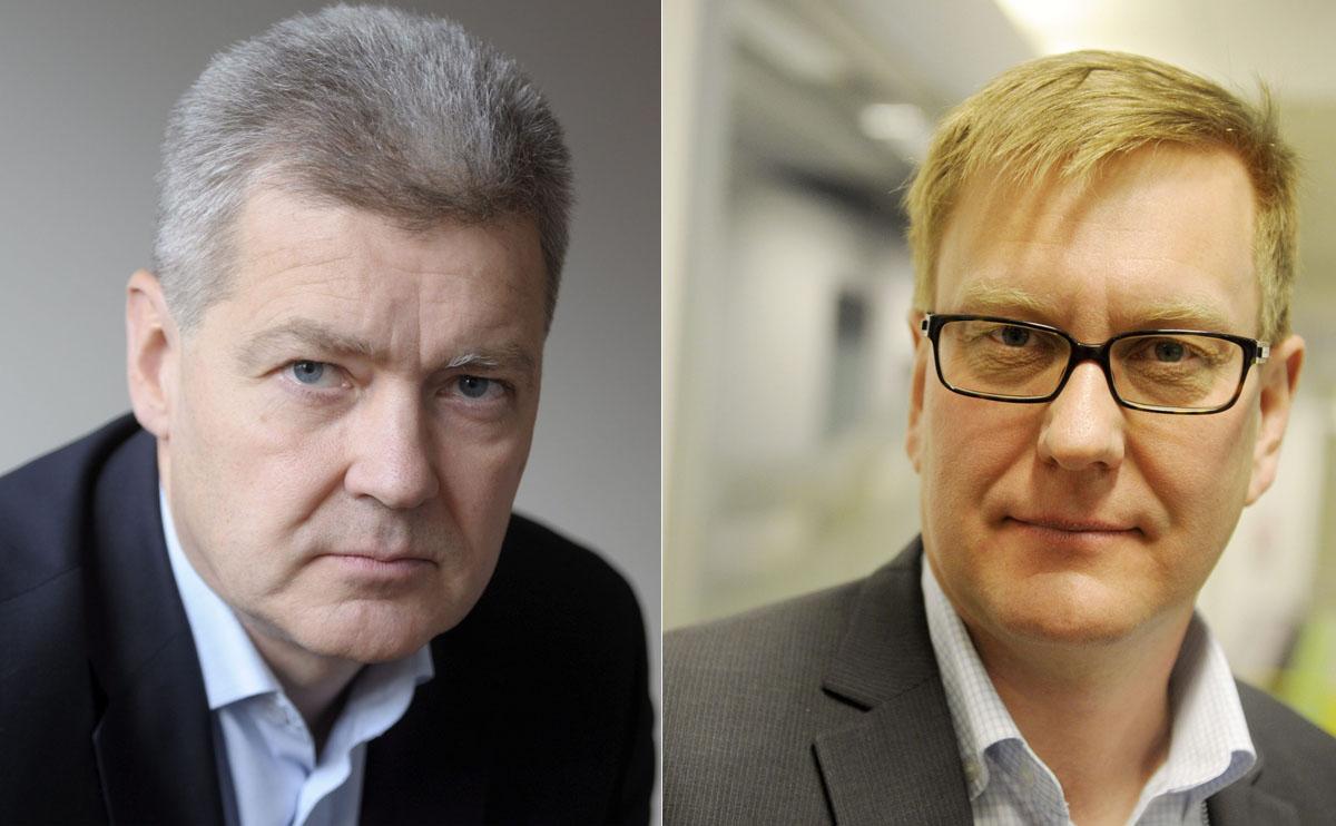 Ylen Lauri Kivinen ja Atte Jääskeläinen.