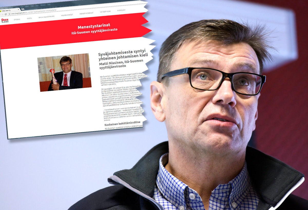 Matti Nissinen kehuu Deep Leadin valmennusta yrityksen verkkosivuilla.