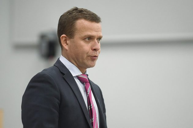 Valtiovarainministeri Petteri Orpo eduskunnan kyselytunnilla 16. helmikuuta 2017.