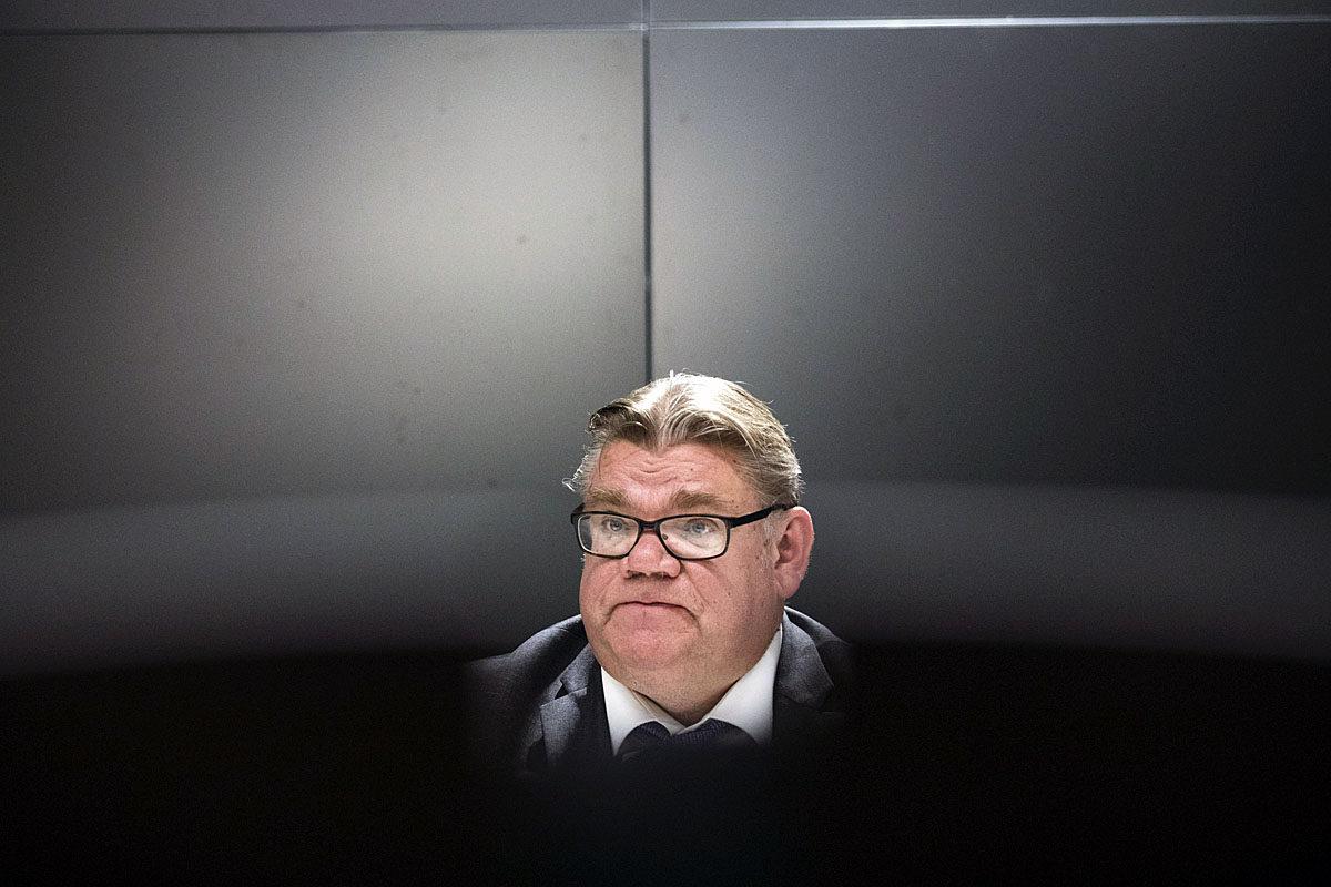 Perussuomalaisten puheenjohtaja, ulkoministeri Timo Soini.