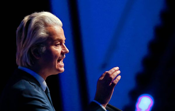 Vapauspuolueen johtaja ja ainoa jäsen Geert Wilders.