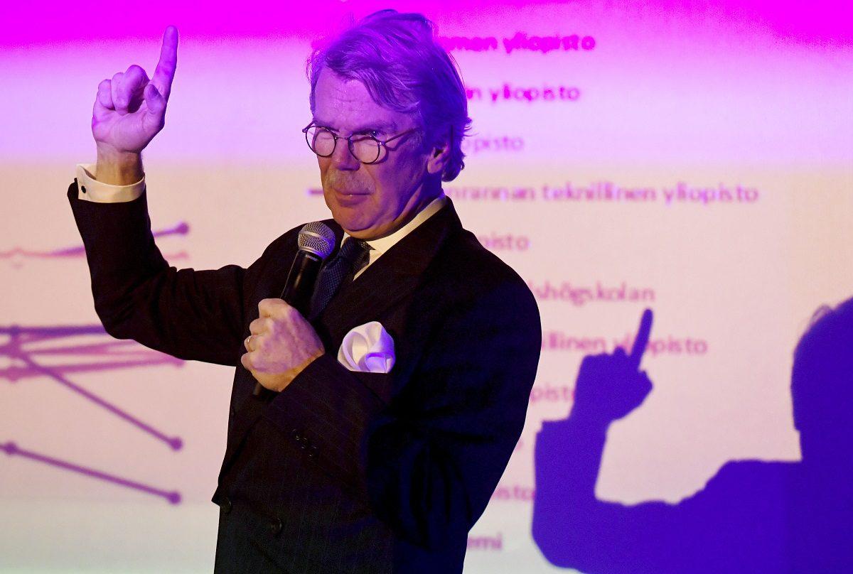 Björn Wahlroos avasi Hanken Business Forum -seminaarin Helsingissä 2. helmikuuta 2017.