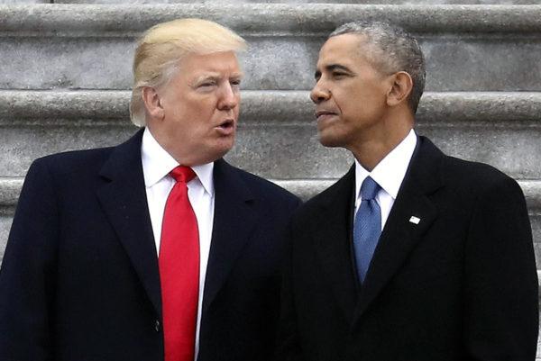 Donald Trump ja Barack Obama Washingtonissa Yhdysvalloissa 20. tammikuuta 2017.