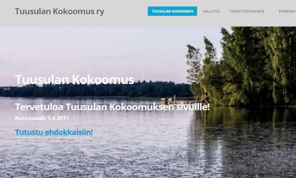 Ruutukaappaus Tuusulan Kokoomus ry:n verkkosivustolta.