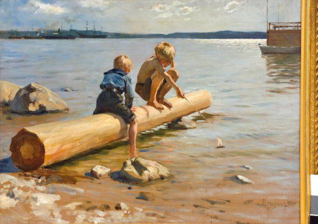 Albert Edelfelt: Leikkiviä poikia (1884).