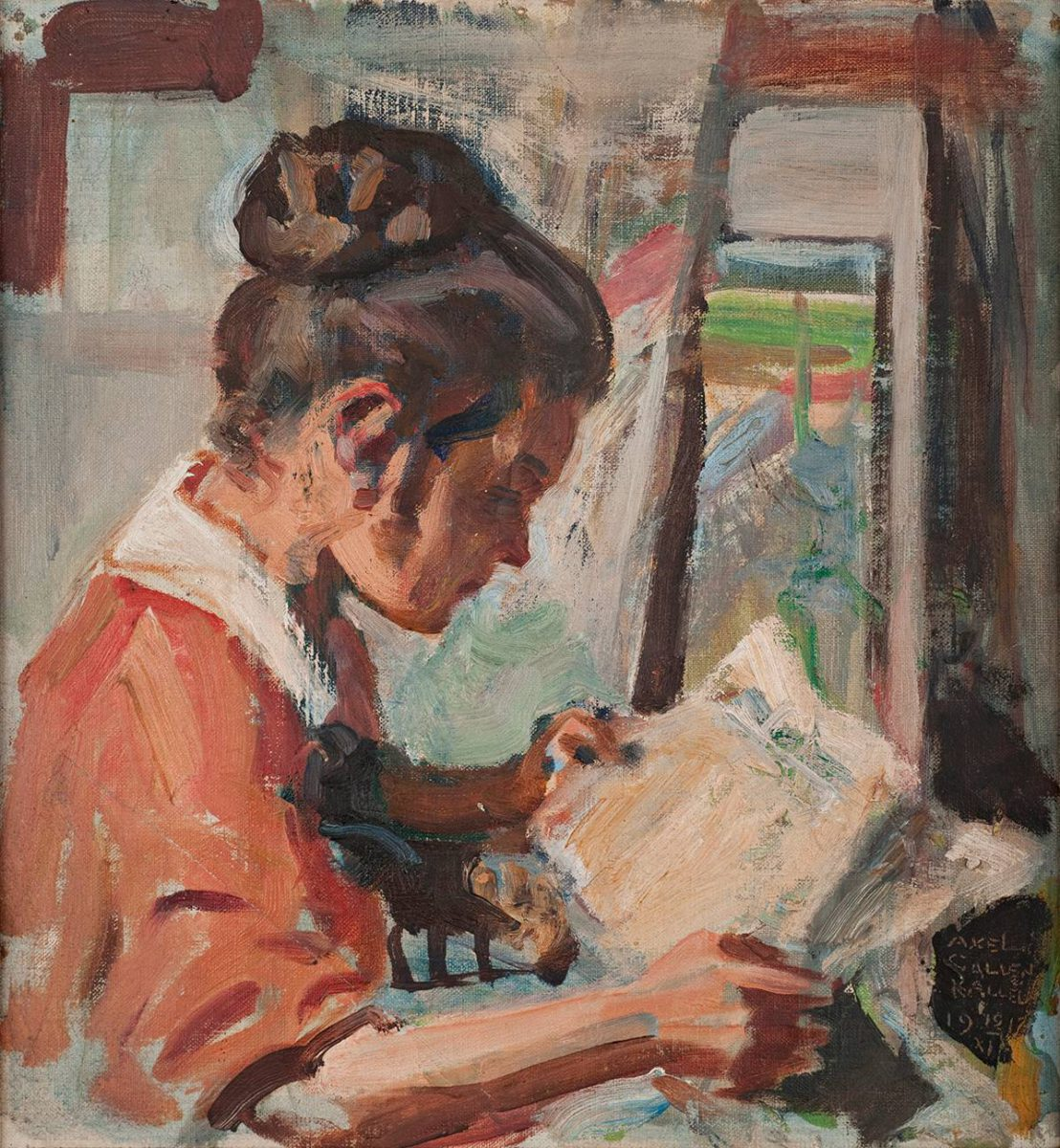 Akseli Gallen-Kallela, Kirsti lukee, 1917.