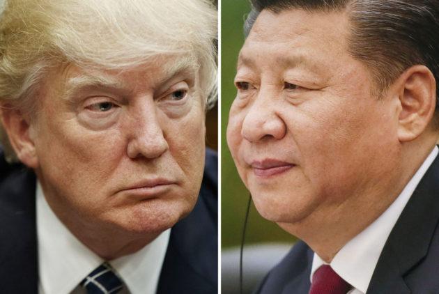 Yhdysvaltain presidentti Donald Trump ja Kiinan presidentti Xi Jinping.