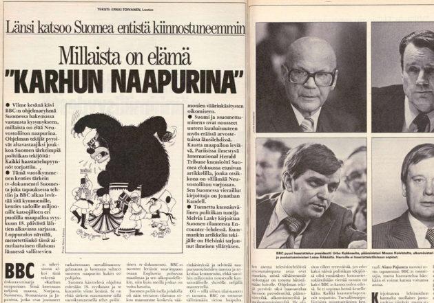 Erkki Toivanen kirjoitti BBC:n Suomi-dokumentista Suomen Kuvalehden numerossa 36/1979.