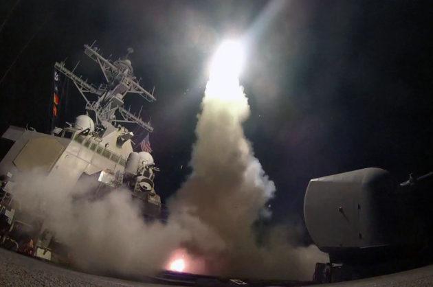 Yhdysvaltain laivaston USS Porter on Välimerellä ja osallistui ohjusiskuun Syyriaan 7. huhtikuuta 2017.