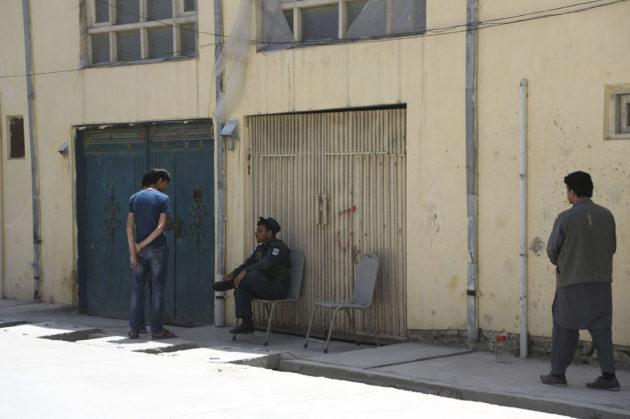 Ulkomaalaisten vierasmaja Kabulissa Afganistanissa 21. toukokuuta 2017. Asemiehet sieppasivat talosta suomalaisen avustustyöntekijän sekä tappoivat saksalaisnaisen ja majapaikan turvamiehen.