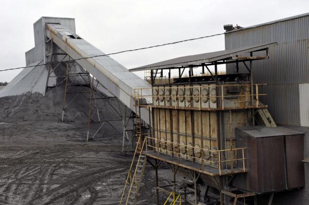 Hituran kaivoksen murskaamo Nivalassa lokakuussa 2008.