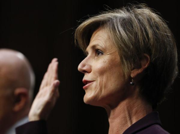 Yhdysvaltain senaatin tiedustelukomitean kuulustelussa 8. toukokuuta 2017.