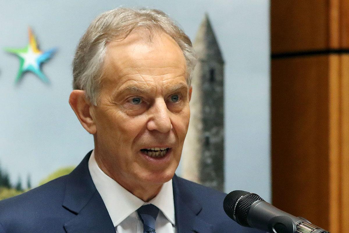 Tony Blair puhui Euroopan parlamentin EPP-ryhmän tilaisuudessa Wicklow'ssa Irlannissa 12. toukokuuta 2017.