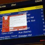 WanaCrypt0r-kiristyshaittaohjelma vaati lunnaita Chemnitzin rautatieaseman aikataulunäytöllä Saksassa 12. toukokuuta 2017.