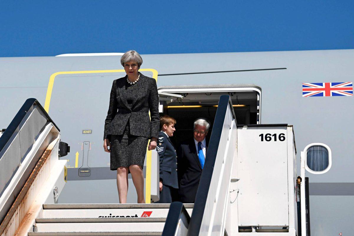 Britannian pääministeri Theresa May kävi Nato-kokouksessa Brysselissä 25.5.